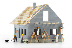Construction of cottages Royalty Free Stock Images