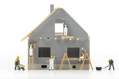 Construction of cottages Stock Photos