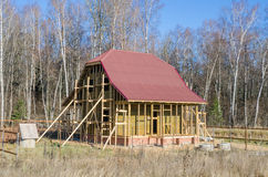 Construction of a country house Royalty Free Stock Photography