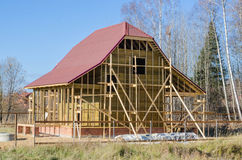Construction of a country house Royalty Free Stock Photos