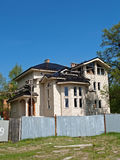 Construction of a country house in the summer Royalty Free Stock Photography