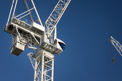 Construction Crane. With copy space in London royalty free stock images