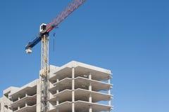 Construction with crane Stock Photos