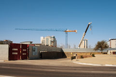Construction crane. Royalty Free Stock Image