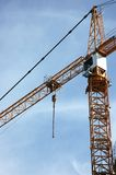 CONSTRUCTION CRANE. Frame-body over blue sky background Royalty Free Stock Photos