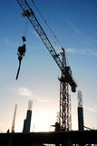 The construction crane Royalty Free Stock Photography