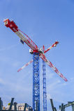Construction crane. Against blue sky Royalty Free Stock Images