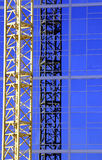 Construction Crane. Construction site- Zoomed in Royalty Free Stock Photography