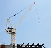 Construction Crane. Large crane working on a building site. Photo taken February 2014 Royalty Free Stock Photos