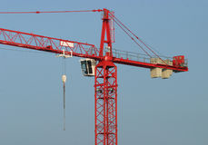 Construction Crane. Large red construction crane stock photos