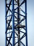Construction crane. Part of the construction crane at a construction site Royalty Free Stock Photos