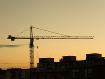 Construction Crane. Crane at a construction site Stock Photography