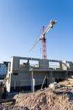 Construction Crane. Crane at a construction site Stock Photos