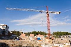 Construction Crane. Crane at a construction site Stock Photo