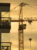 Construction Crane. Silhouette Royalty Free Stock Photos