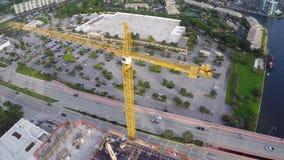 Construction crane stock video