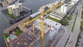 Construction crane stock footage