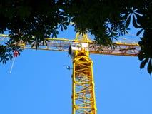 The construction crane royalty free stock photo
