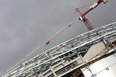 Building with Cranes Stock Photos