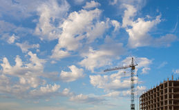 Construction crane against the sky Royalty Free Stock Photography