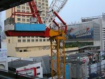 Construction crane, Bangkok Royalty Free Stock Images