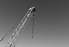 construction crane in black and white Stock Photography