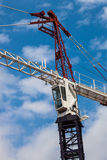 Construction Crane Blue  Royalty Free Stock Photography
