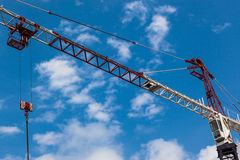 Construction Crane Blue  Stock Photography