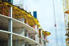 Construction crane and building Stock Image