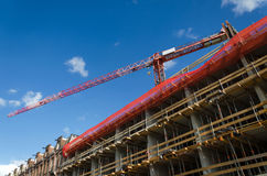 Construction crane and the building Stock Photography