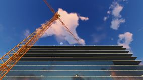 Construction crane and building stock illustration