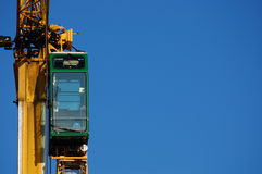 Construction crane cabine Stock Photo