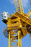 Construction crane. Close up of construction crane with blue sky Royalty Free Stock Photos