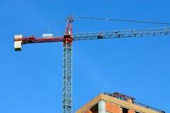 Construction crane closeup Stock Images