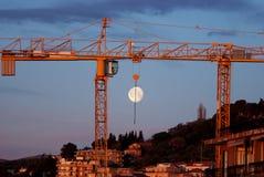 Construction crane at dawn Royalty Free Stock Image