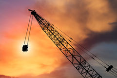 Construction crane on evening Stock Images