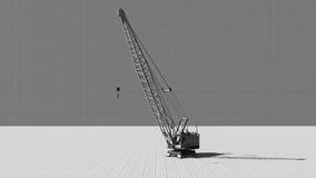 Construction crane a gray background Stock Image