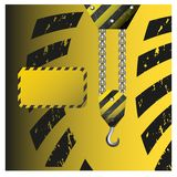 Construction crane hook. For design in games and mobile applications stock illustration