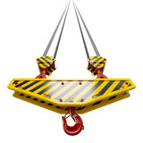 Construction crane hook Stock Photo