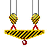 Construction crane hook Royalty Free Stock Image