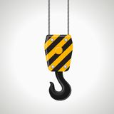 Construction crane hook vector icon on white Stock Image