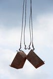 Construction crane hooks Royalty Free Stock Images