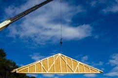 Construction crane at a job site Stock Photos