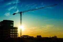 Construction crane Stock Images