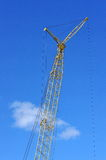 Construction Crane. Large,heavy,construction crane at a work site Stock Photo