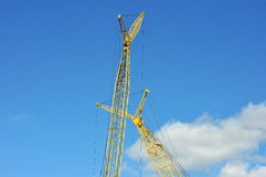 Construction Crane. Large,heavy,construction crane at a work site royalty free stock photo