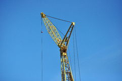 Construction Crane. Large,heavy,construction crane at a work site royalty free stock photography