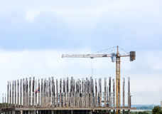 Construction and crane Stock Image