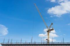 Construction crane and new building in Bangkok, Thailand Stock Photo