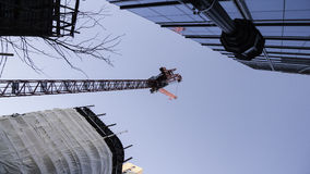 Construction crane One Seaport Square Royalty Free Stock Photo